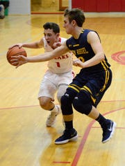 SJCC's Zach Wonderly handles the ball Tuesday.