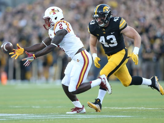 NCAA Football: Iowa State at Iowa