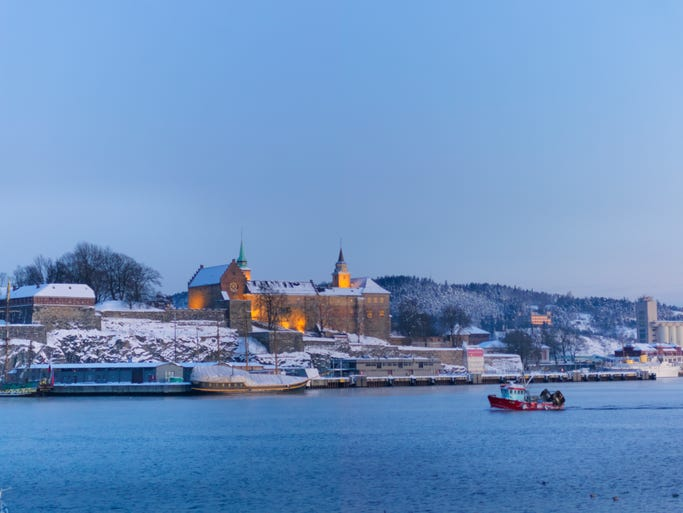"""To conjure up the """"Frozen"""" landscape, a Disney creative team traveled to Norway to draw inspiration from the country's culture, nature and architecture.  The movie's Kingdom of Arendelle is modeled on the Akershus Fortress in Oslo, shown here."""