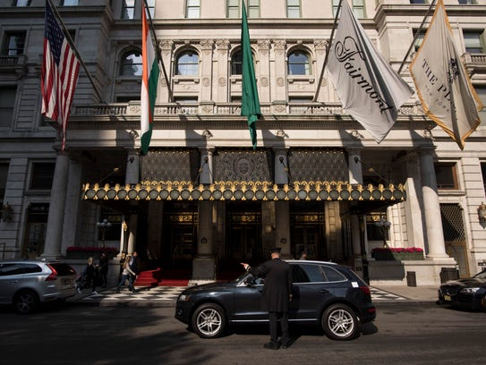 FILE — The Plaza Hotel, which was purchased by Donald