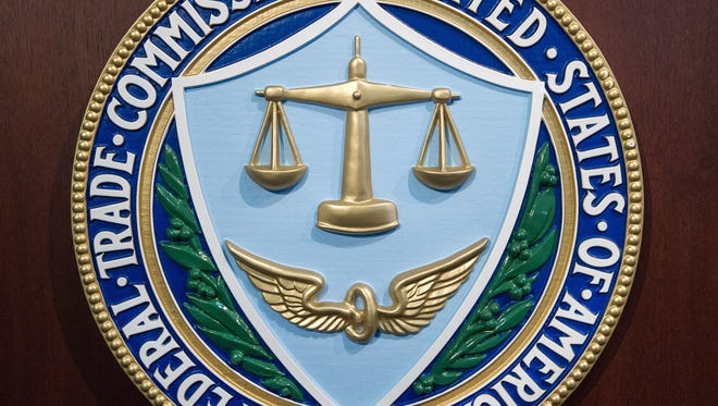File photo taken in 2014 shows the official seal of the U.S. Federal Trade Commission