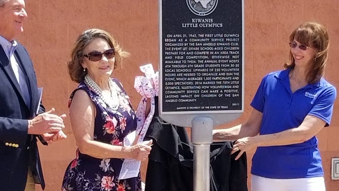 Kiwanis Club was honored with a historical marker by the Texas Historical Commission Tuesday, April 24, 2018.