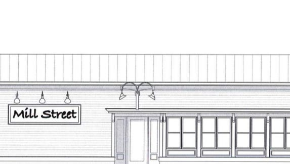 This preliminary architectural rendering shows a 1,240-square-foot building that developer Greg Zimmerschied plans to construct on Mill Street between Hanover Avenue and Washington Avenue in Cedarburg.