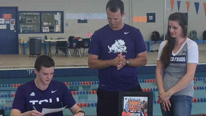 The Central Swim Team celebrated the first state medal winner in 30 years as Matt Brewer finished in third place at the UIL state meet.He later signed to swim with TCU.
