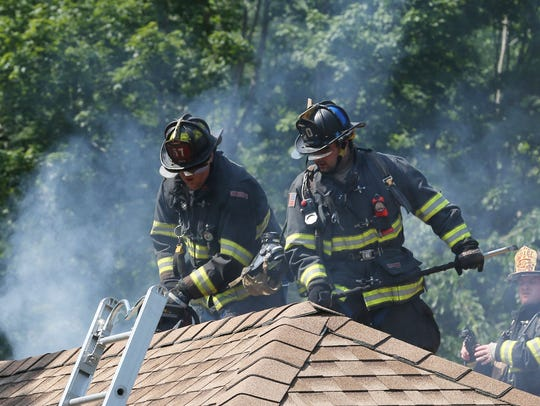 Firefighters from several Northern Westchester departments