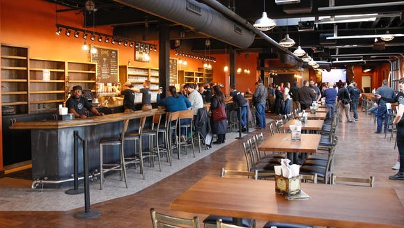 The new Founders Brewing taproom in Detroit evokes