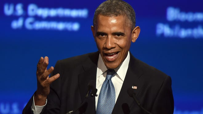 President Obama speaks to a summit of African leaders.