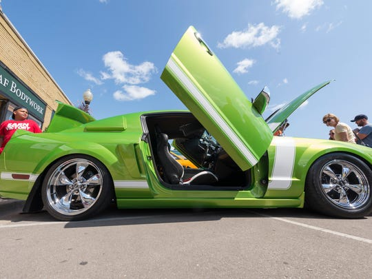 A heavily modified 2006 Ford Mustang, owned by Markeith