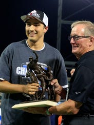 Alex Faedo receives the College World Series Most Outstanding