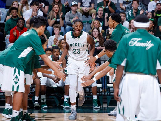 New Haven's Romeo Weems (23) is introduced before an
