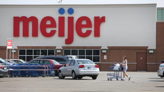 The Meijer store at 8375 E. 96th St., Indianapolis, is shown on Tuesday, September 8, 2015.