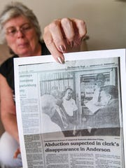 A copy of a Greenville News story clipping about Tina