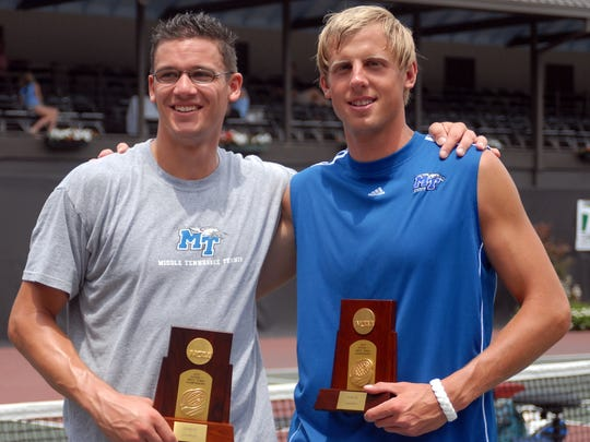 MTSU's Marco Born (left) and Andreas Siljestrom (right) won the NCAA Doubles National Championship in 2007.