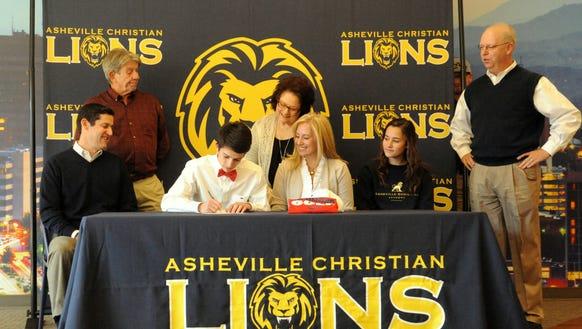 Asheville Christian Academy senior Will Tamplin has