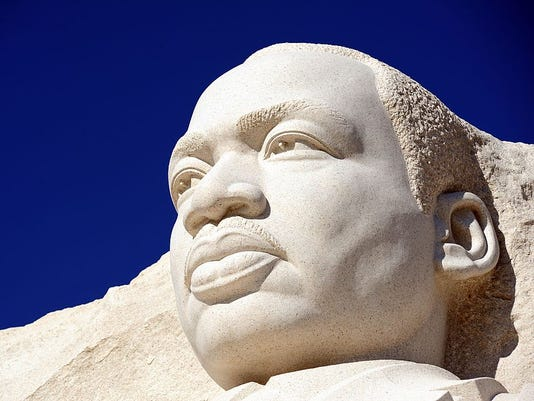 The Martin Luther King, Jr sculpture is