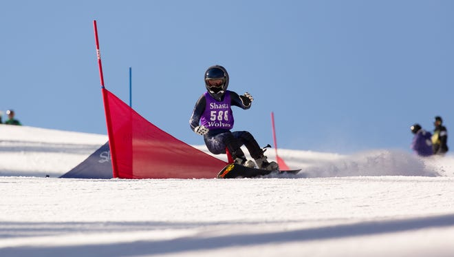 Sage Will of Shasta High School is expected to be in the running for thetop girls snowboard spot in next week's state competition.