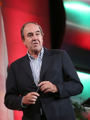 Nando Parrado speaks during the H.N. and Frances C. Berger Foundation presents Desert Town Hall in Indian Wells, February 22, 2016.