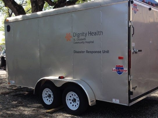 This trailer with about $250,000 worth of decontamination