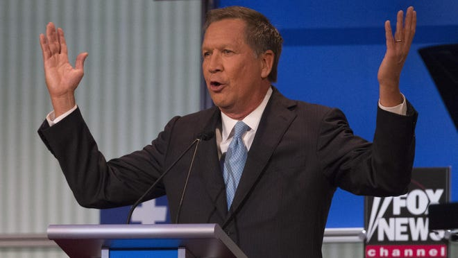 Ohio Gov. John Kasich, at Thursday night's Republican debate in Cleveland, said he'd sign a body-camera bill, depending on what passes.