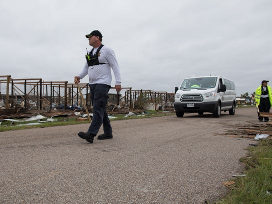 Members of Texas Task Force One conduct search and