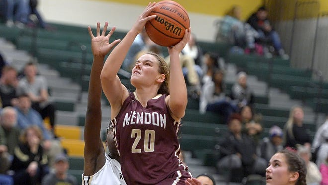 Senior guard Sara Lyons is Mendon's top scorer at 17.3 points per game and the leader for the Vikings (25-0), who play Section I's Somers in Friday's Class A girls basketball state tournament semifinals in Troy.