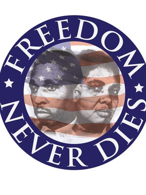 The logo of the Freedom 5K in Mims.