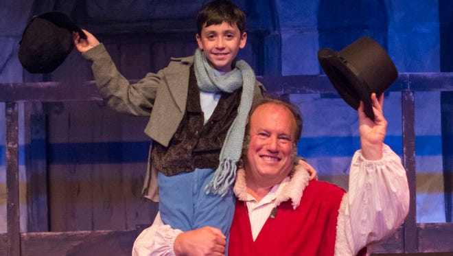 "The Children's Theatre production of ""Scrooge"" runs weekends through Dec. 12."