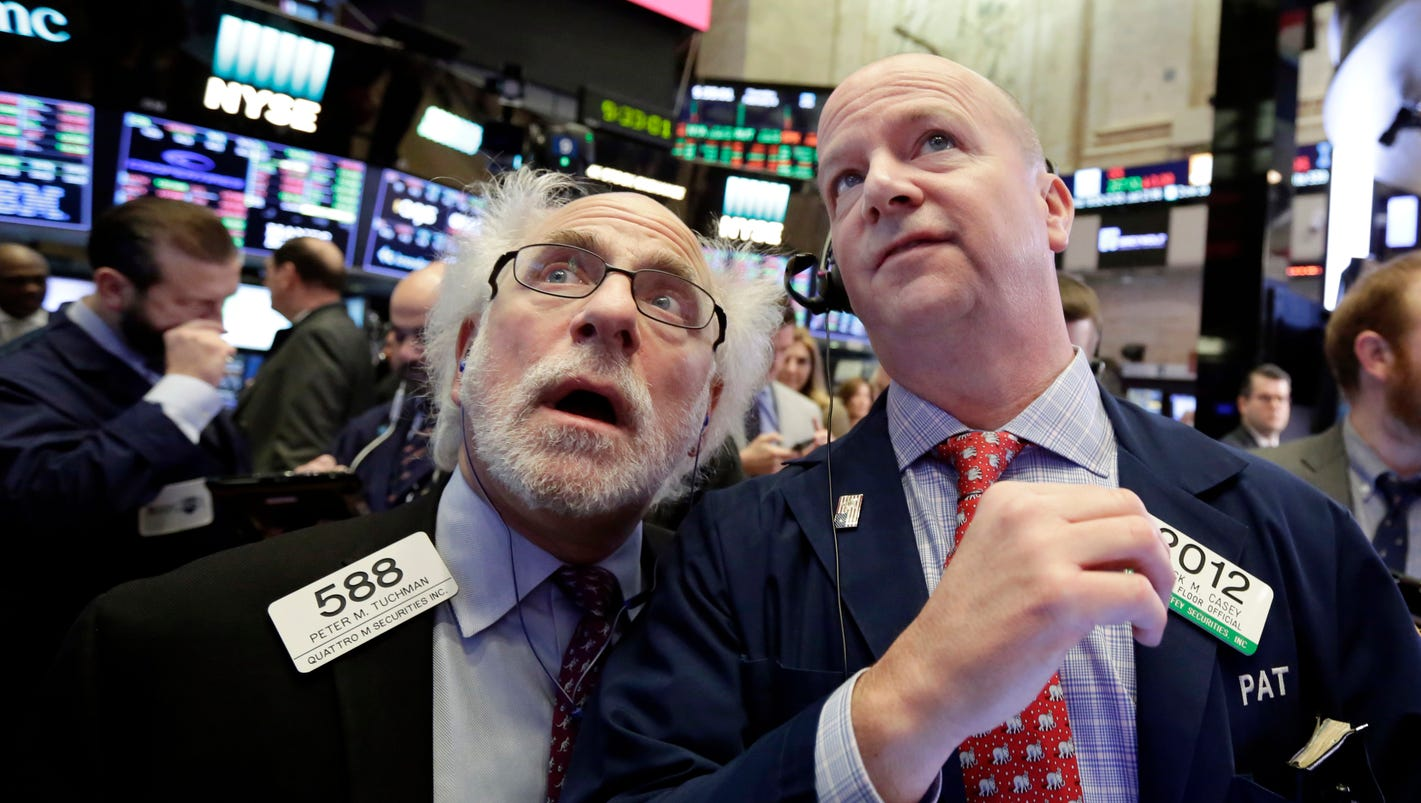 Stocks power higher following their worst week in 2 years; Dow jumps 400