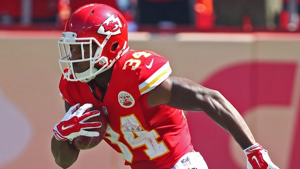 Kansas City Chiefs running back Knile Davis is expected