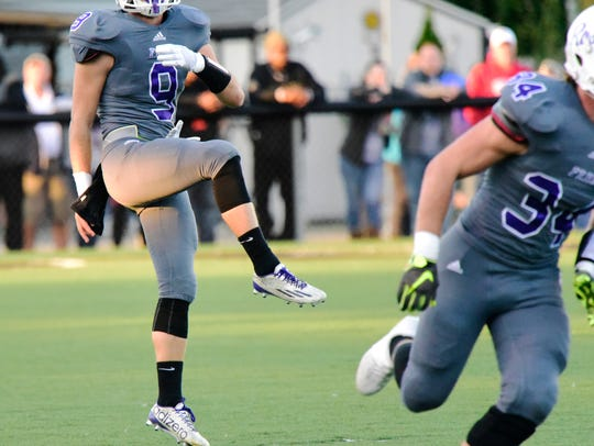 Fremont Ross junior Noah Hotz was first-team all-TRAC at punter for the second straight season.
