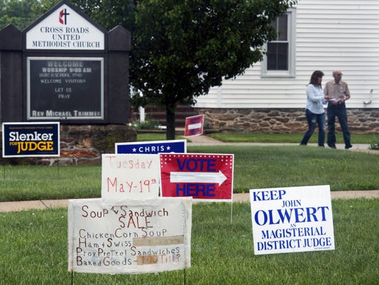 Primary day in Cross Roads turns the United Methodist Church into a polling place and hot spot for the sale of what some say is the best chicken corn soup in the area.