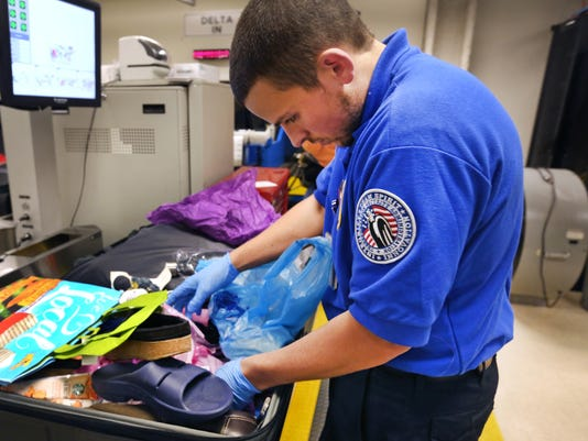 Airport gun seizures