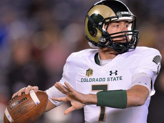 CSU's Nick Stevens, shown during a Nov. 26 win at San