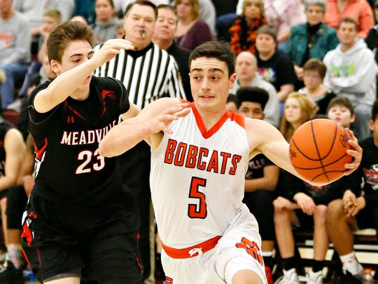 Northeastern's Antonio Rizzuto leads the York-Adams League in scoring at 27.9 points per game. He's helped the Bobcats to a 12-0 start. YORK DISPATCH FILE PHOTO