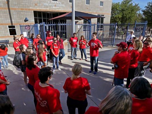 Cienega teachers protest low pay, funding