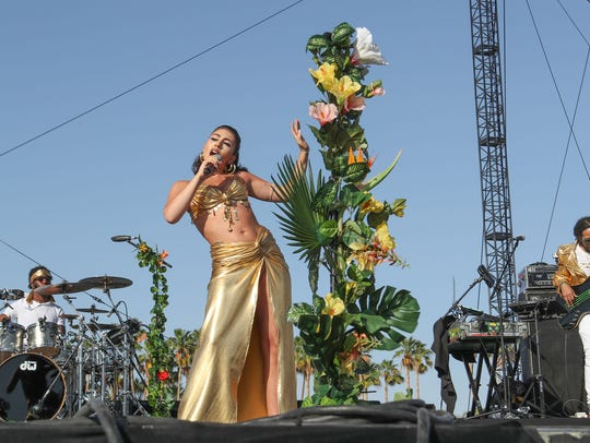 Apr 13, 2018; Indio, CA, USA;  Kali Uchis performs