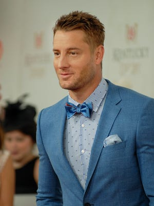 Justin Hartley on the Red Carpet at the 143rd Kentucky Derby.