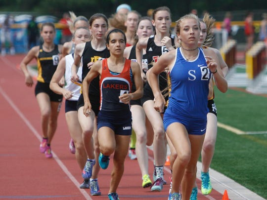 Schools compete in the 1600m finals at the Group III, II, and non-public B state championships at Central Regional High School in Bayville, N.J. June 1, 2018.