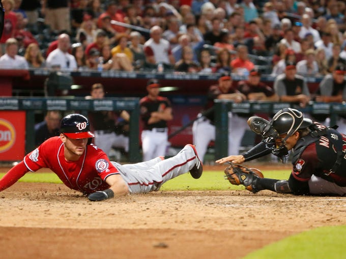 Arizona Diamondbacks catcher John Ryan Murphy (36)