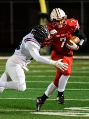 Port Clinton's Emerson Lowe is a running back on the News Herald/News-Messenger team.
