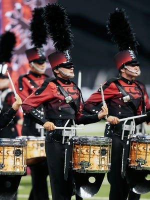 Boston Crusaders perform Thursday, August 6, at the 2015 DCI World Championship Prelims at Lucas Oil Stadium in Indianapolis, IN. The corps finished in 10th place with a score of 86.200.