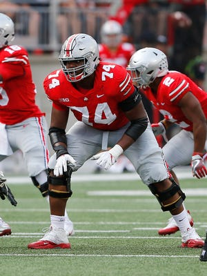 Jamarco Jones believes he should have been drafted higher than the fifth round, when the Seahawks picked him. He started for two years at left tackle for Ohio State.