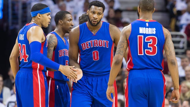 Pistons' Tobias Harris, Andre Drummond and Marcus Morris bring a 0-2 series deficit into tonight's Game 3 at the Palace against the Cavaliers.