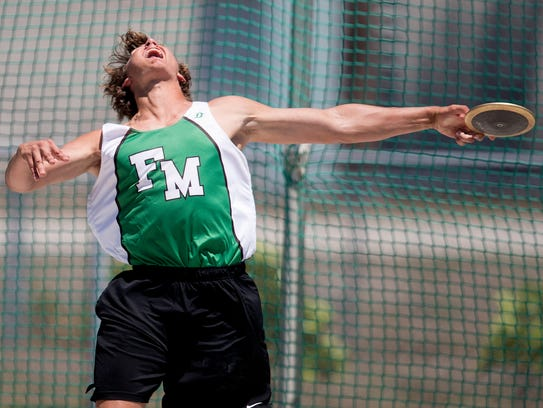 Fort Myers High School's Jacob Lemmon won the discus