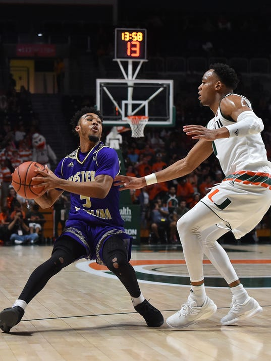 NCAA Basketball: Western Carolina at Miami