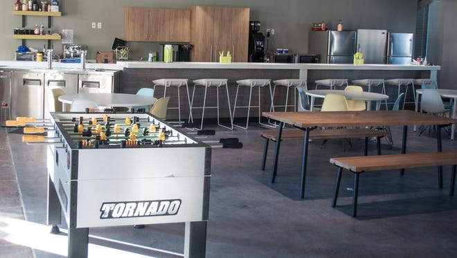 The game room at EatStreet's new headquarters.