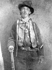 This undated file ferrotype picture provided by the Lincoln County, N.M., Heritage Trust Archive is believed to depict William Bonney, also known as Billy the Kid, circa 1880.