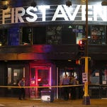 Police tape blocks the entrance the landmark concert venue First Avenue in Minneapolis, after patrons were evacuated when part of the ceiling collapsed Wednesday night.