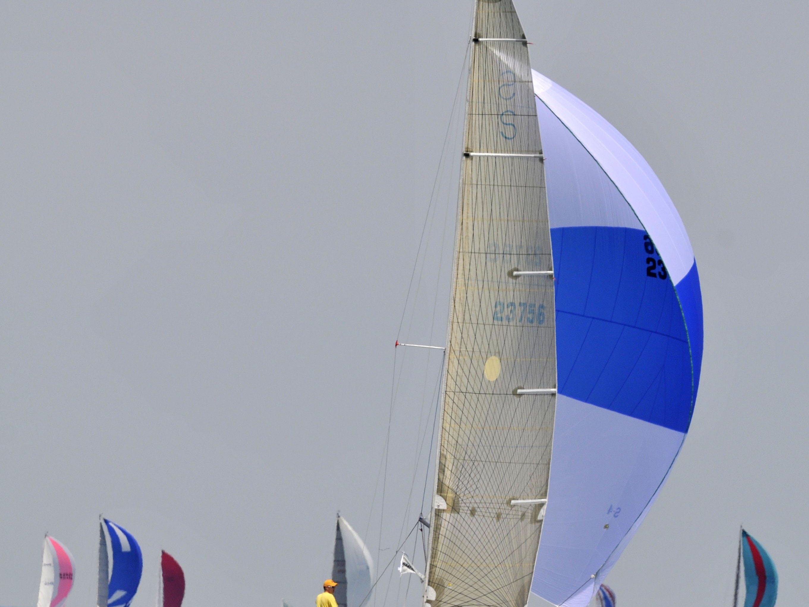 Shape, sailing out of the Port Huron Yacht Club, took first place not only in its class and division, but also for the Shore Course overall in the 2014 sailboat race from Port Huron to Mackinac Island. This year, its rating allows it to stay on the Shore Course.