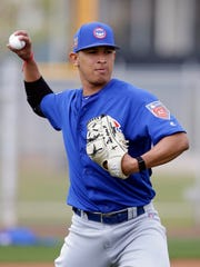 Right-handed pitcher Adbert Alzolay is headed back to the Iowa Cubs.